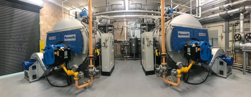 steam boiler used in laundry service providers
